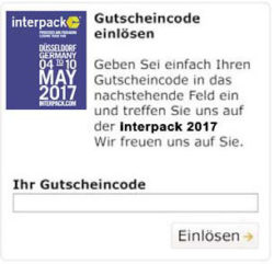 interpack Gutschein-Widget
