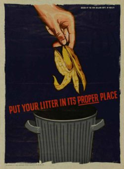 Health Poster 'Put your litter in its proper place' von Archives New Zealand / Flickr.com