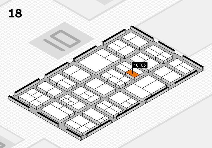 components 2017 Hallenplan (Halle 18): Stand F05