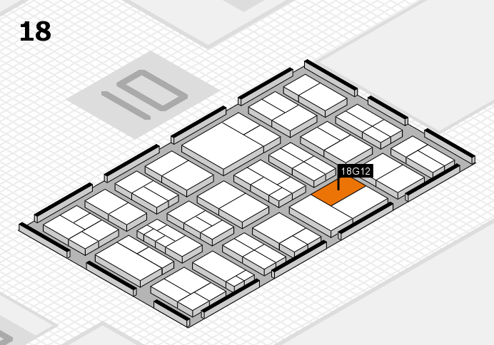 components 2017 hall map (Hall 18): stand G12