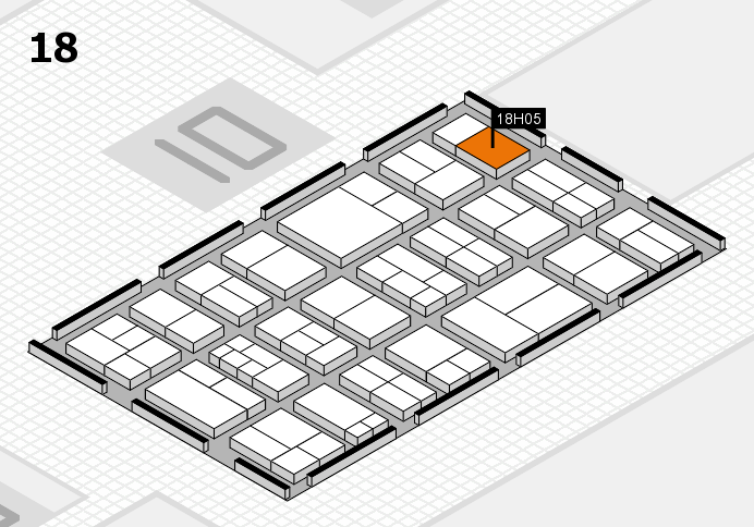 components 2017 hall map (Hall 18): stand H05