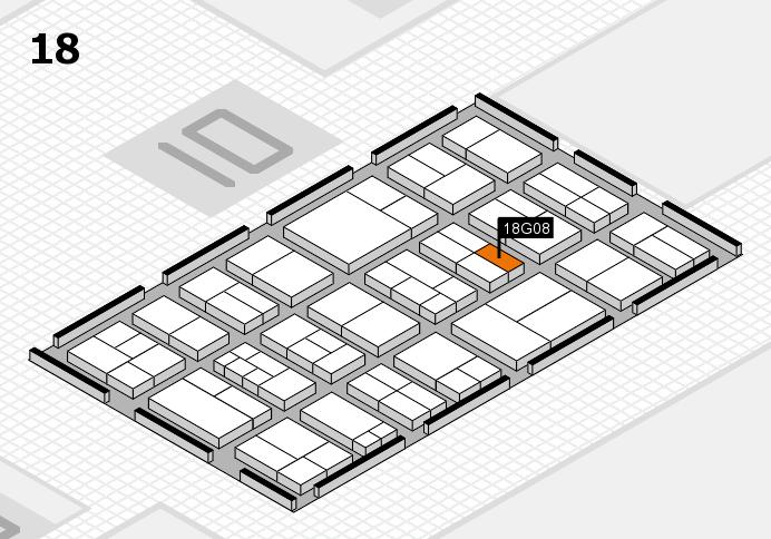 components 2017 Hallenplan (Halle 18): Stand G08