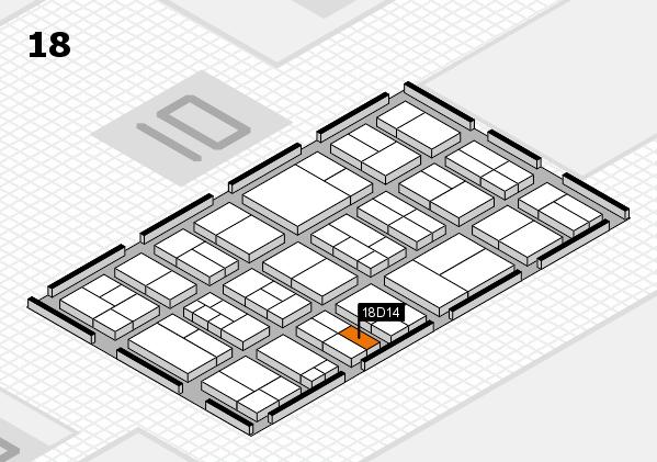 components 2017 Hallenplan (Halle 18): Stand D14