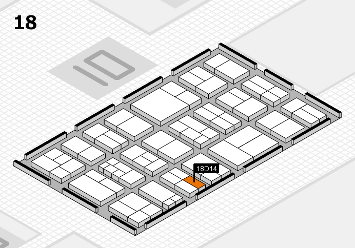 components 2017 hall map (Hall 18): stand D14