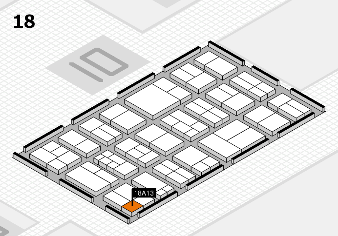 components 2017 hall map (Hall 18): stand A13
