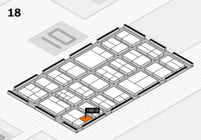 components 2017 hall map (Hall 18): stand B18