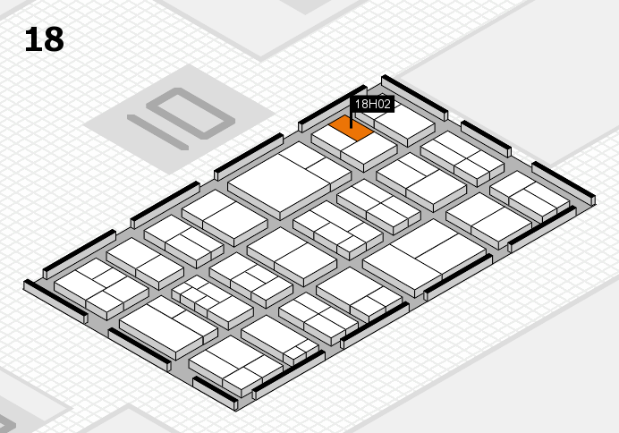 components 2017 hall map (Hall 18): stand H02