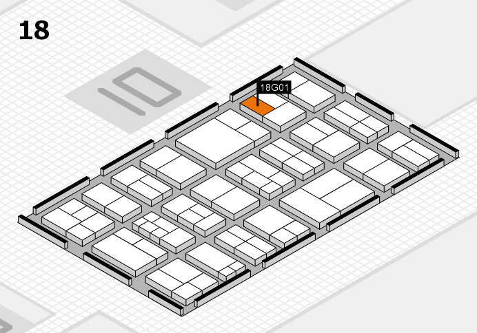 components 2017 hall map (Hall 18): stand G01