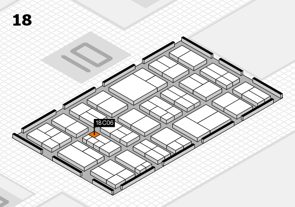 components 2017 hall map (Hall 18): stand C06