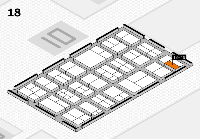 components 2017 hall map (Hall 18): stand H19