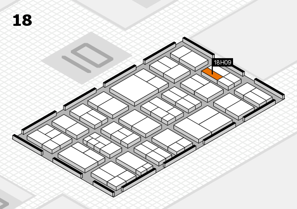 components 2017 hall map (Hall 18): stand H09