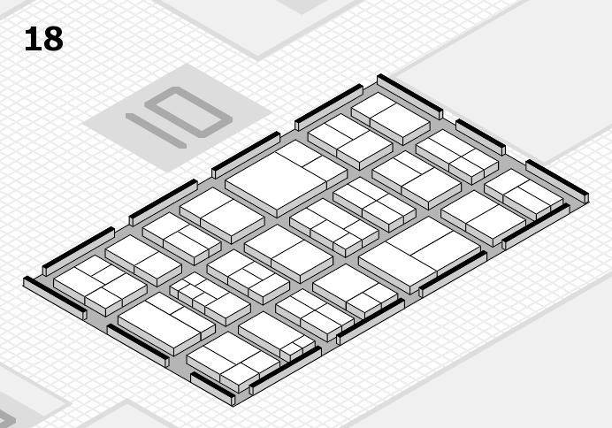 components 2017 hall map (Hall 18): stand A01