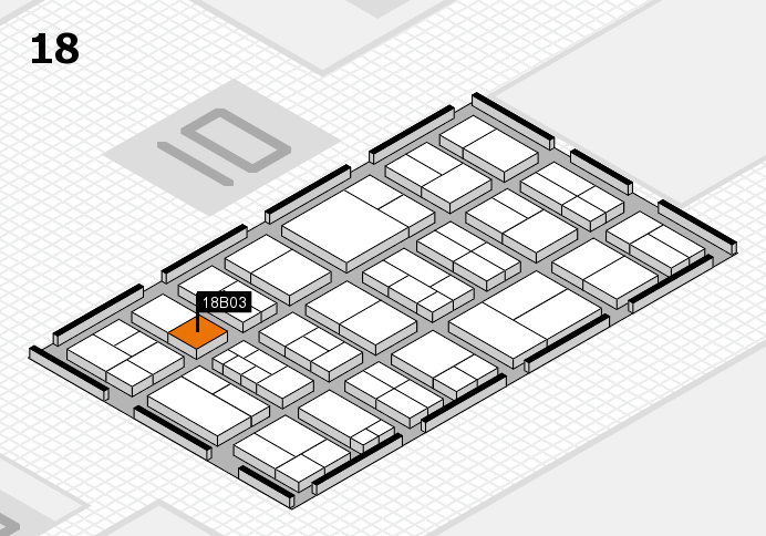 components 2017 hall map (Hall 18): stand B03