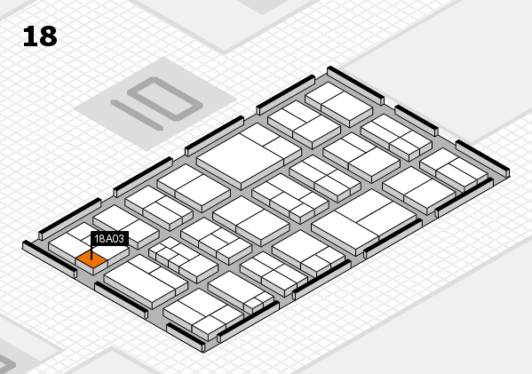 components 2017 hall map (Hall 18): stand A03