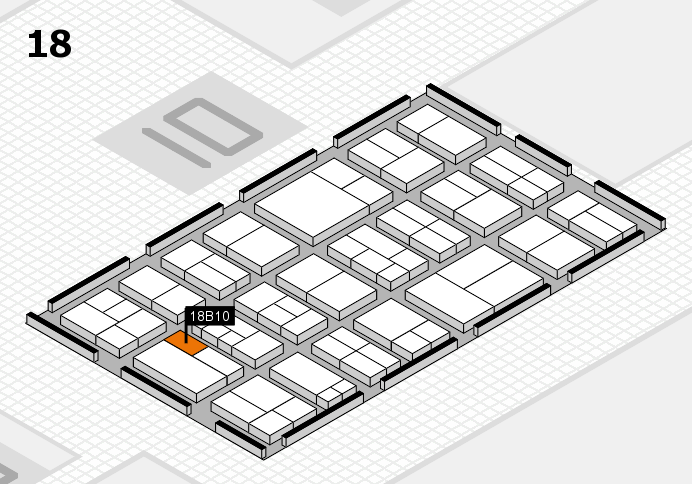 components 2017 hall map (Hall 18): stand B10