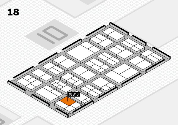 components 2017 hall map (Hall 18): stand B16