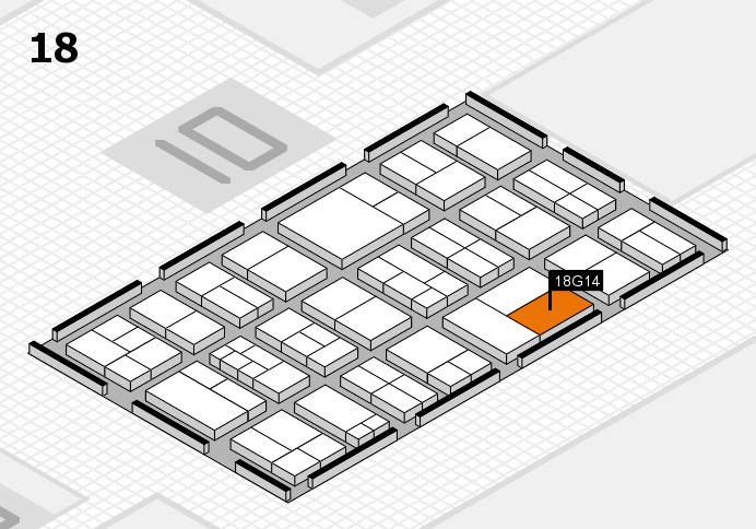 components 2017 hall map (Hall 18): stand G14