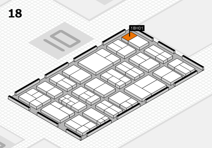 components 2017 hall map (Hall 18): stand H01