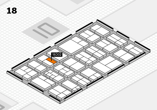 components 2017 hall map (Hall 18): stand D02