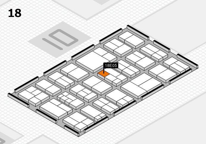 components 2017 hall map (Hall 18): stand E05