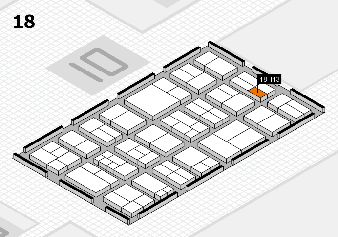 components 2017 hall map (Hall 18): stand H13