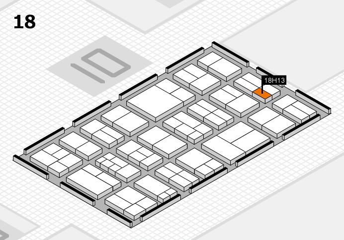 components 2017 Hallenplan (Halle 18): Stand H13