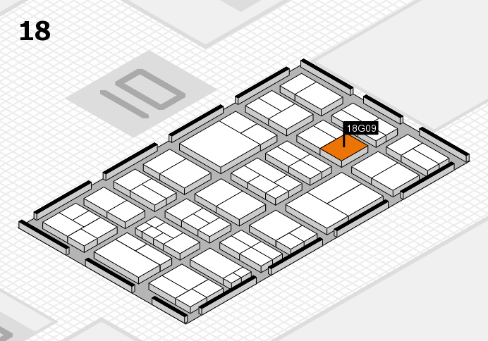 components 2017 hall map (Hall 18): stand G09