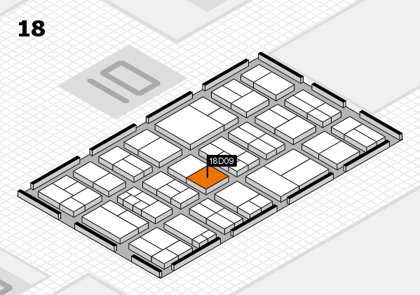 components 2017 hall map (Hall 18): stand D09