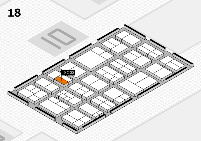 components 2017 hall map (Hall 18): stand C03