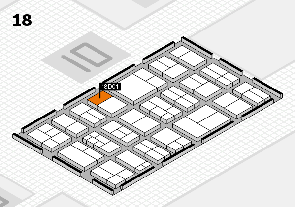components 2017 hall map (Hall 18): stand D01