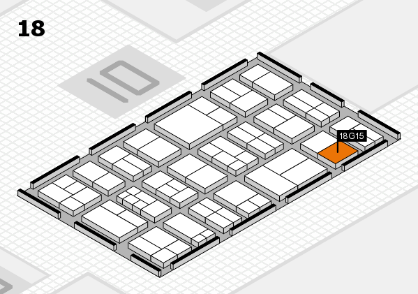 components 2017 hall map (Hall 18): stand G15