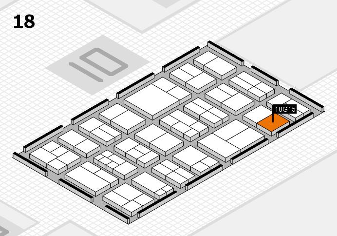 components 2017 Hallenplan (Halle 18): Stand G15