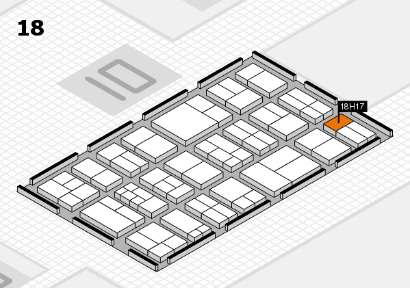 components 2017 hall map (Hall 18): stand H17