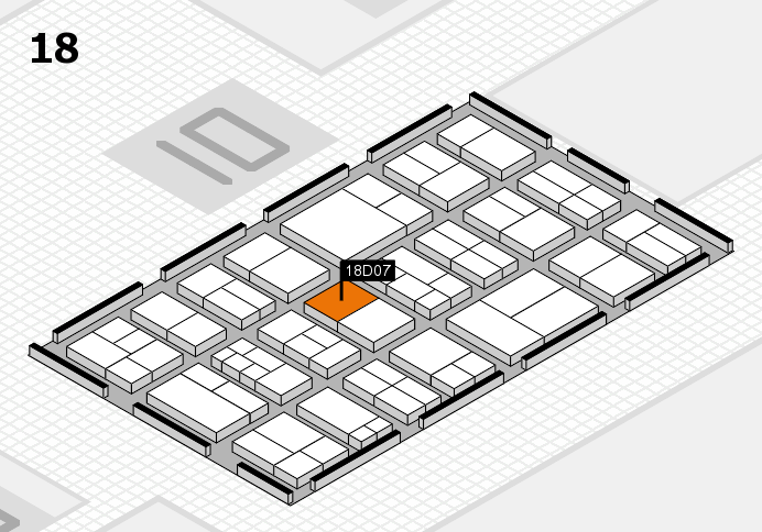 components 2017 hall map (Hall 18): stand D07