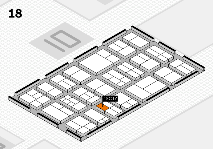 components 2017 hall map (Hall 18): stand C17