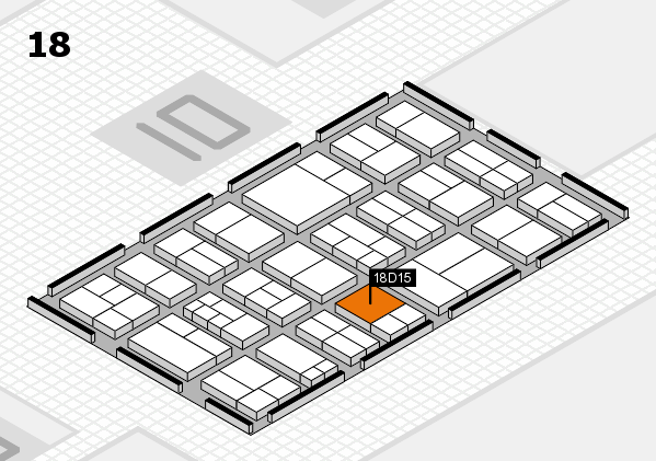 components 2017 hall map (Hall 18): stand D15