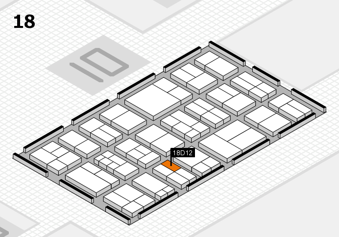 components 2017 hall map (Hall 18): stand D12