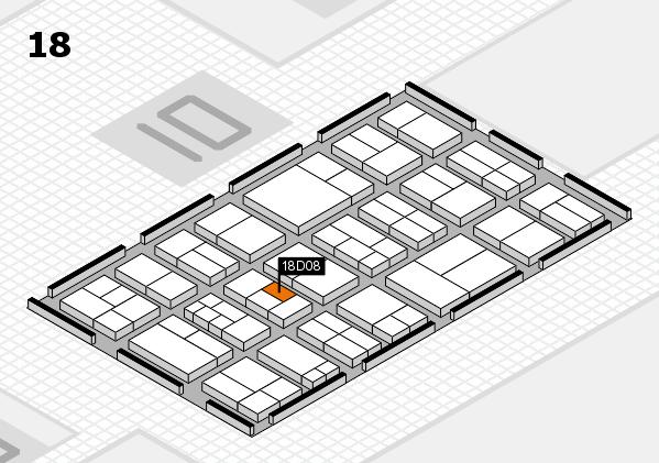 components 2017 Hallenplan (Halle 18): Stand D08