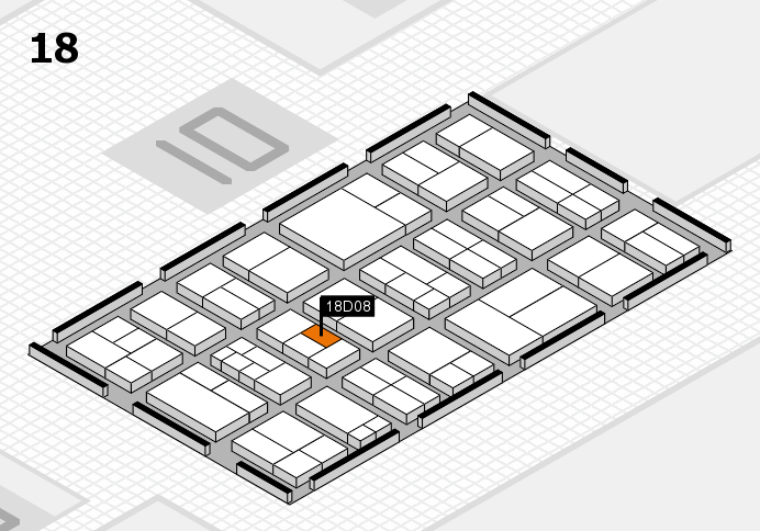 components 2017 hall map (Hall 18): stand D08