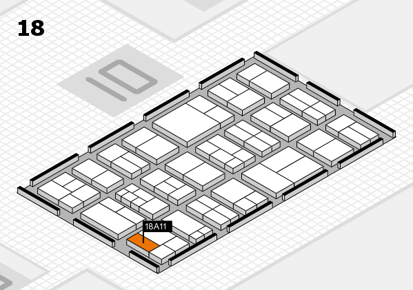 components 2017 hall map (Hall 18): stand A11