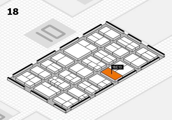 components 2017 hall map (Hall 18): stand E13