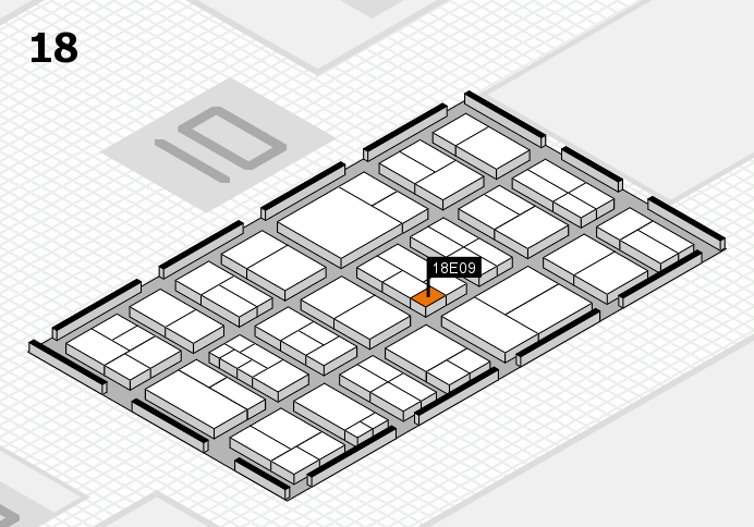 components 2017 hall map (Hall 18): stand E09