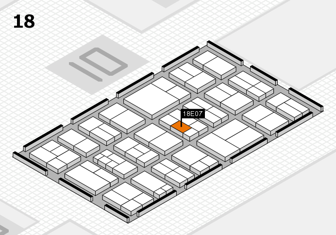 components 2017 hall map (Hall 18): stand E07