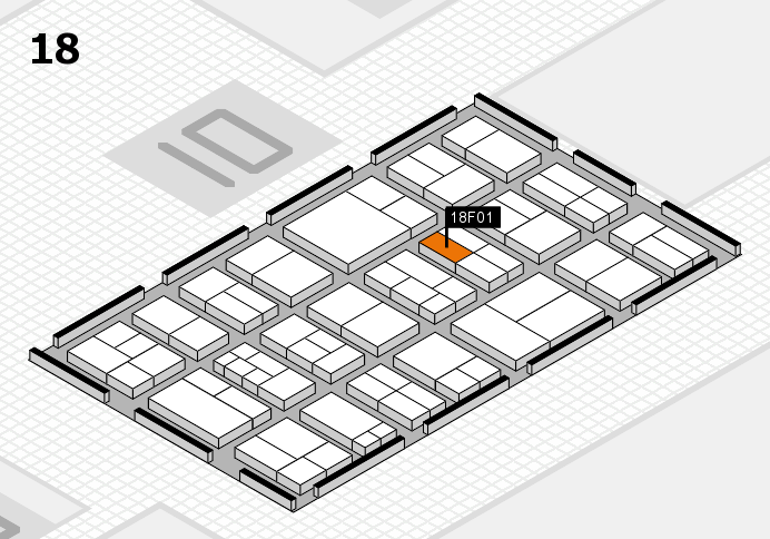 components 2017 hall map (Hall 18): stand F01