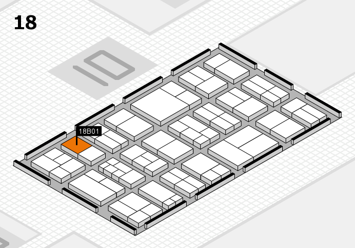 components 2017 hall map (Hall 18): stand B01