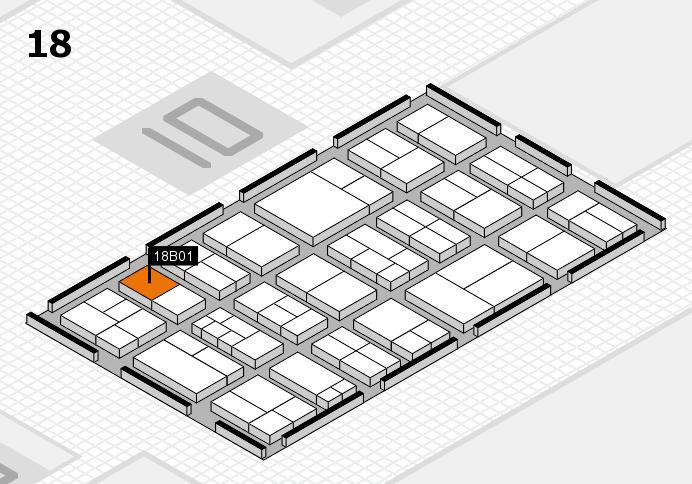components 2017 Hallenplan (Halle 18): Stand B01