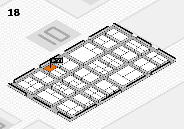 components 2017 Hallenplan (Halle 18): Stand C01