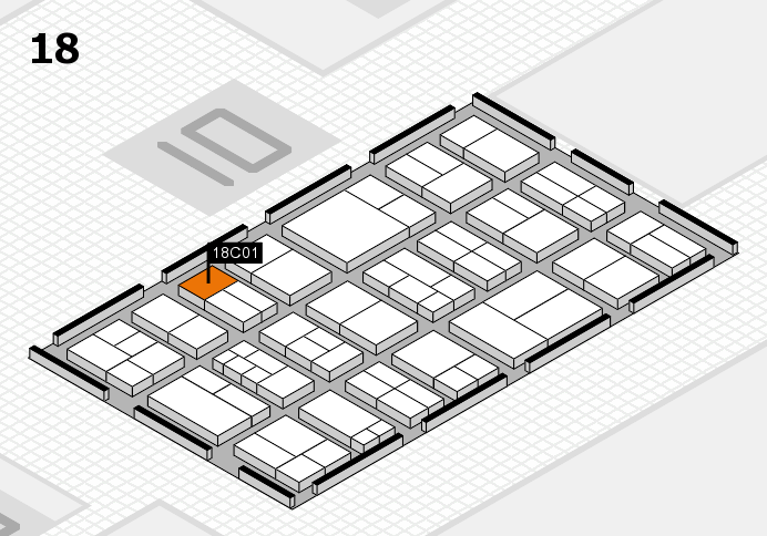 components 2017 hall map (Hall 18): stand C01