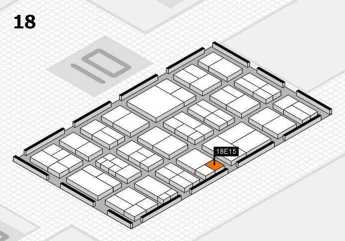 components 2017 hall map (Hall 18): stand E15