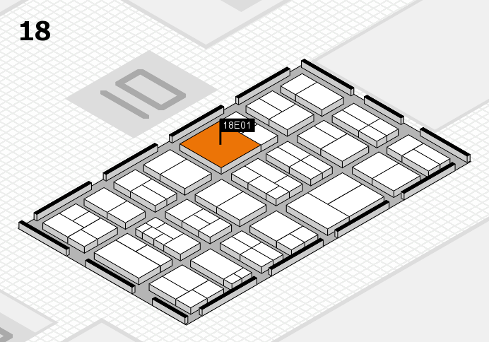 components 2017 hall map (Hall 18): stand E01